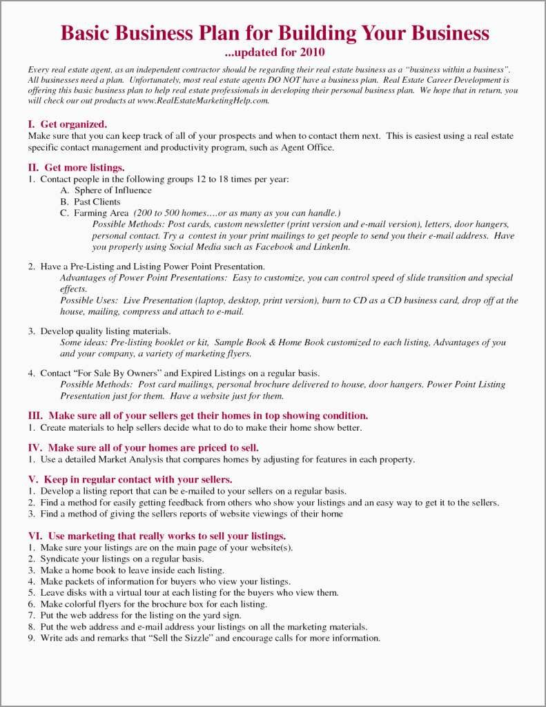 Real Estate Investment Business Plan Template Free Best Of Real For Real Estate Investment Business Plan Template