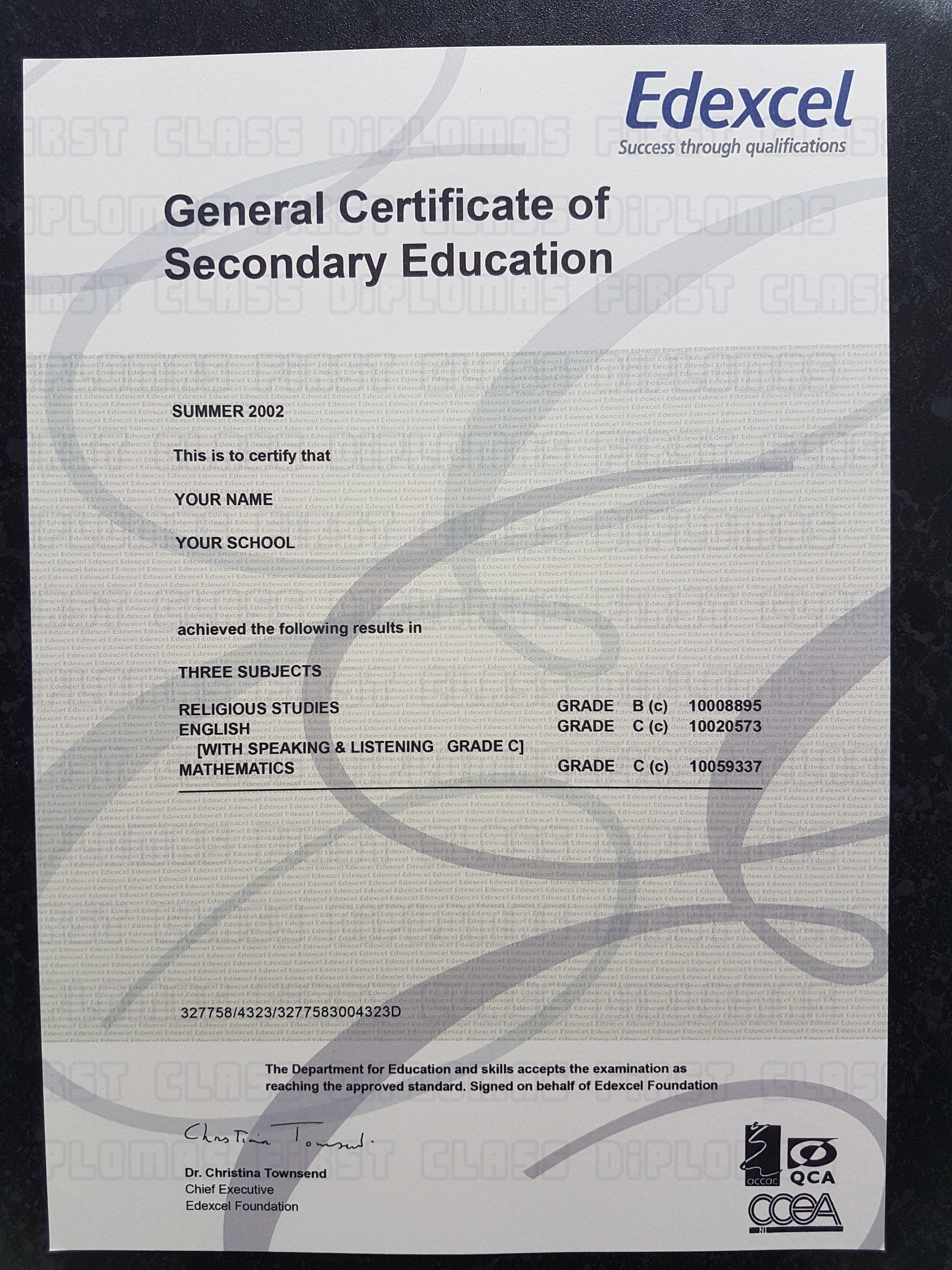 Realistic Gcse Certificate Template Free Worldwide Delivery Please With Regard To Novelty Birth Certificate Template