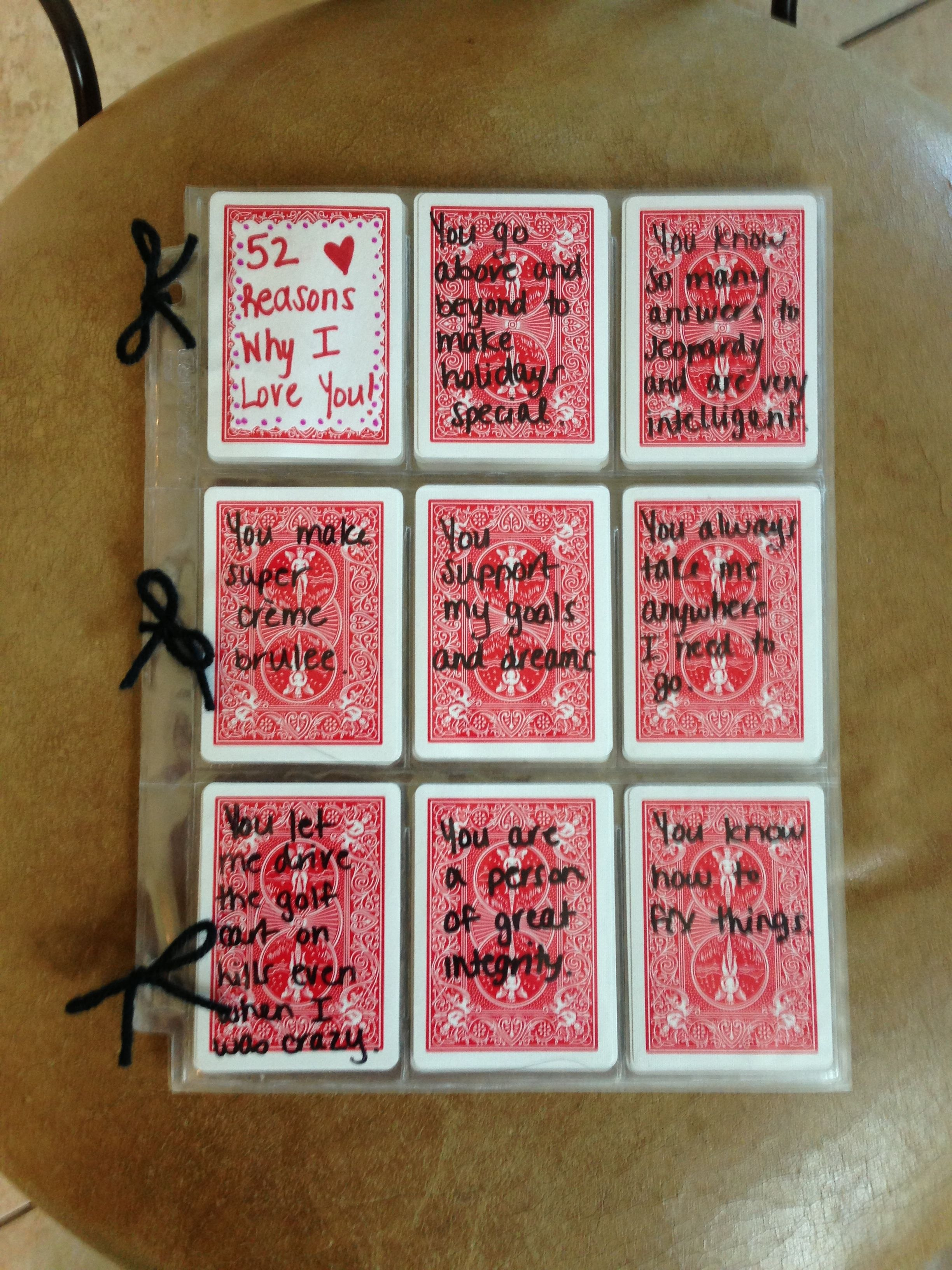 Reasons Why I Love You Ideas  Examples And Forms In 52 Reasons Why I Love You Cards Templates