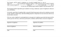Receipt For Holding Deposit On Rental Property  Legal Forms And with regard to Holding Deposit Agreement Template