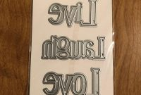 Recollections Live Laugh Love Cutting Template Die  Piece  Etsy in Recollections Cards And Envelopes Templates