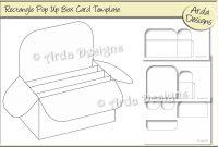 Rectangle Pop Up Box Card Cu Template Graphicarda Designs regarding Pop Up Box Card Template