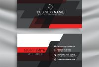 Red And Black Business Card Template Layout In Vector Image inside Visiting Card Illustrator Templates Download