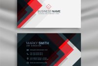 Red And Black Creative Business Card Template Vector Image intended for Web Design Business Cards Templates