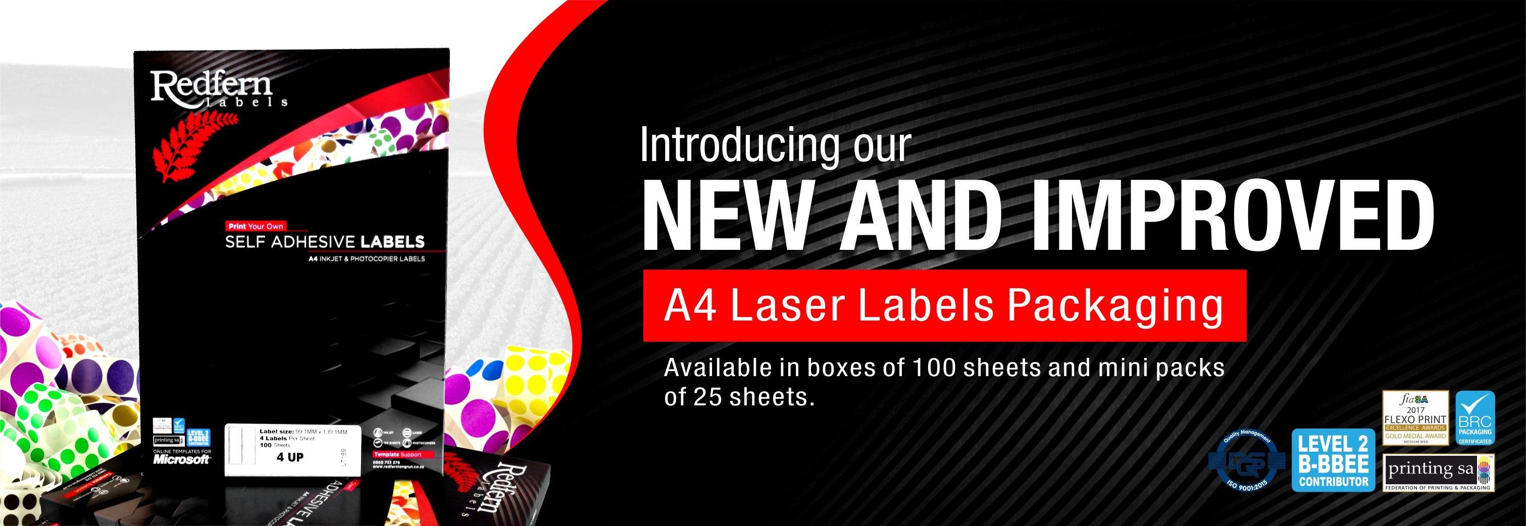Redfern Labels  Welcome  Laser Labels  Customised Labels Intended For Laser Inkjet Labels Templates