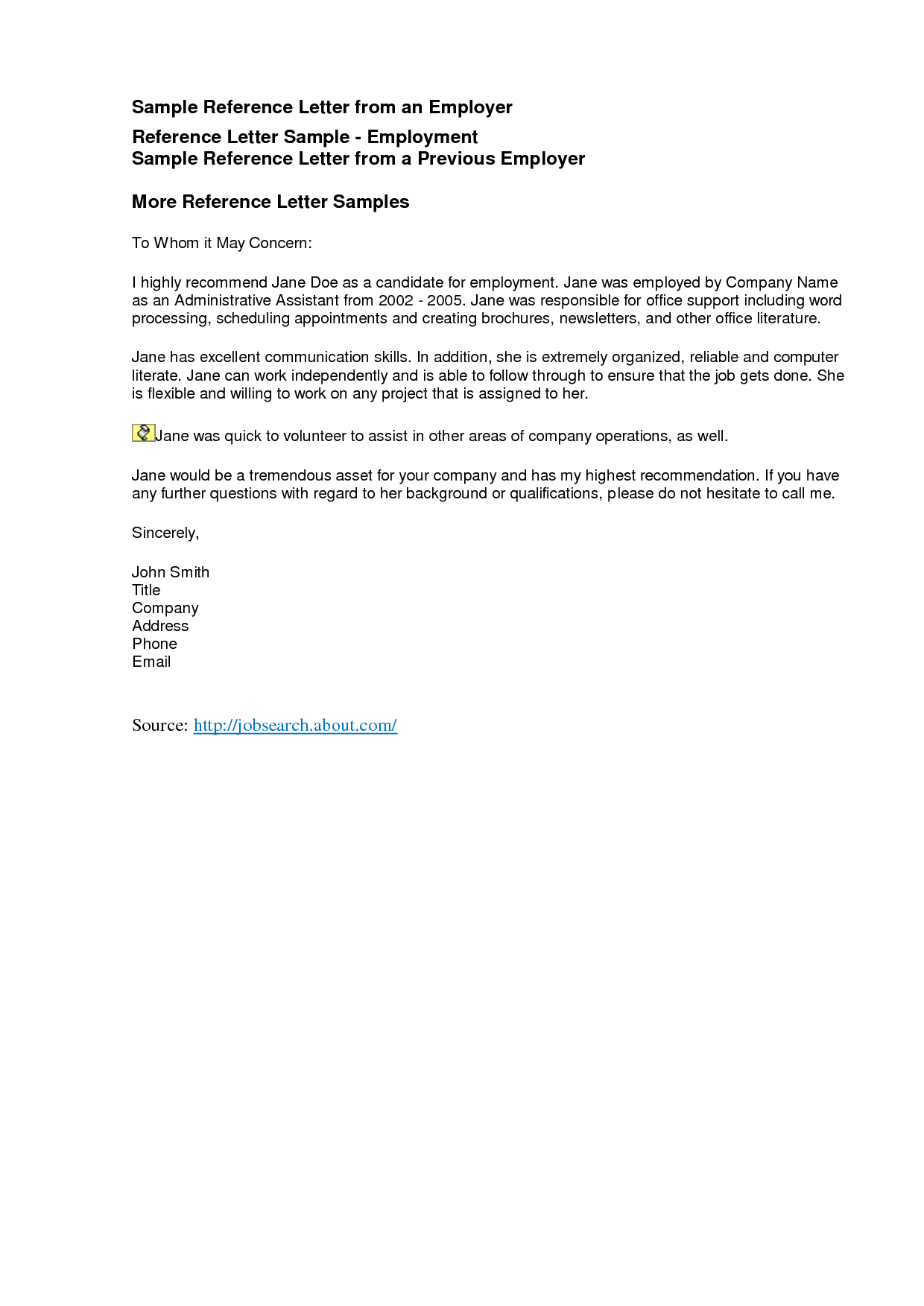 Reference Letters Freereference Letter Examples Business Letter Within Business Reference Template Word