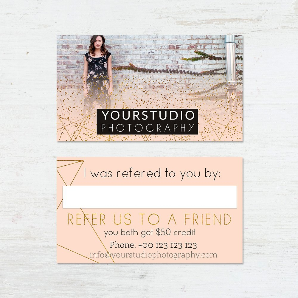 Referral Card Template  Pastel Greetings In Referral Card Template