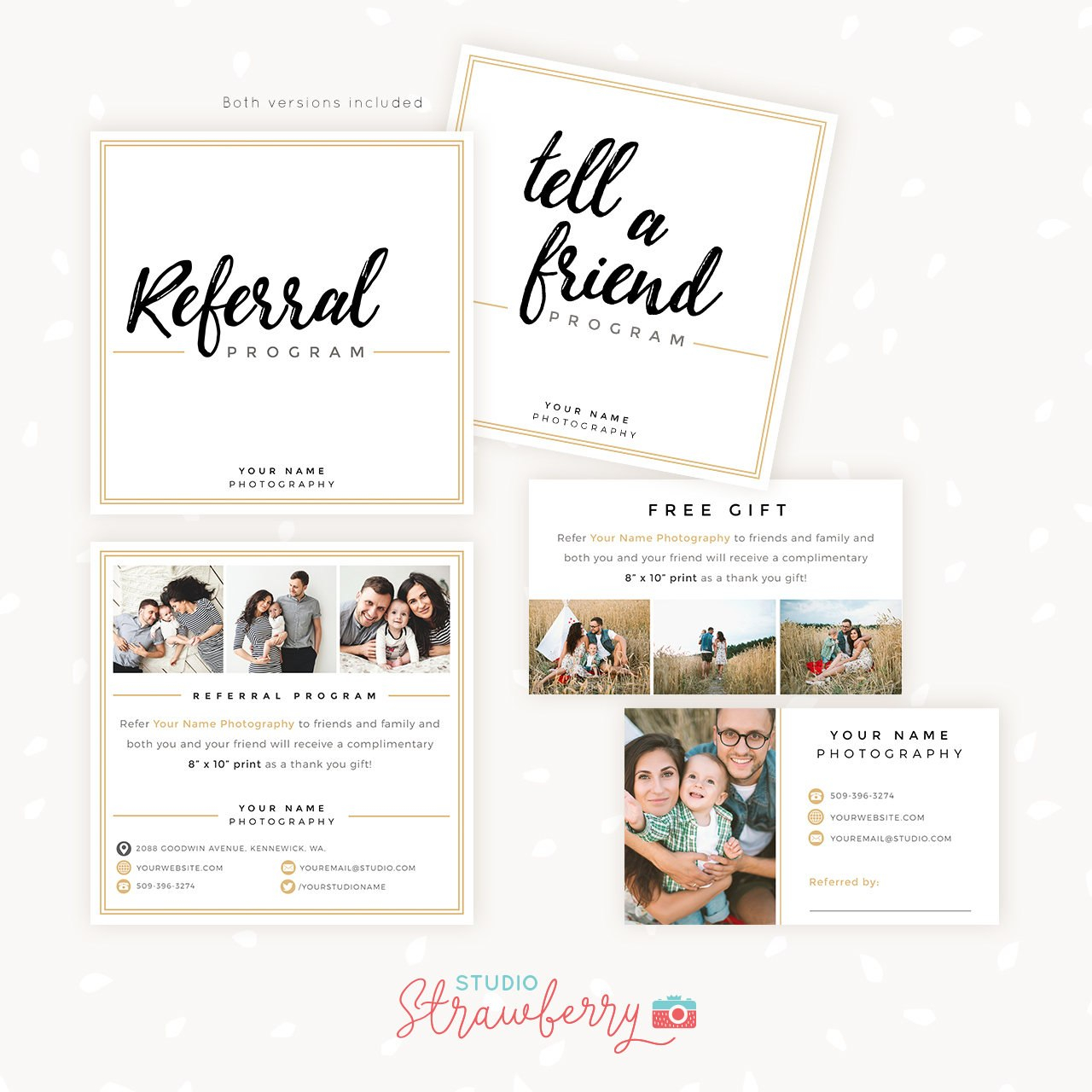 Referral Cards Referral Card Template Referral Program Tell  Etsy For Referral Card Template
