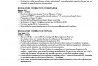 Regulatory Compliance Resume Samples  Velvet Jobs throughout Legal Compliance Register Template