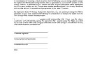 Renewable Energy Credit Assignment Agreement With Credit Assignment Agreement Template
