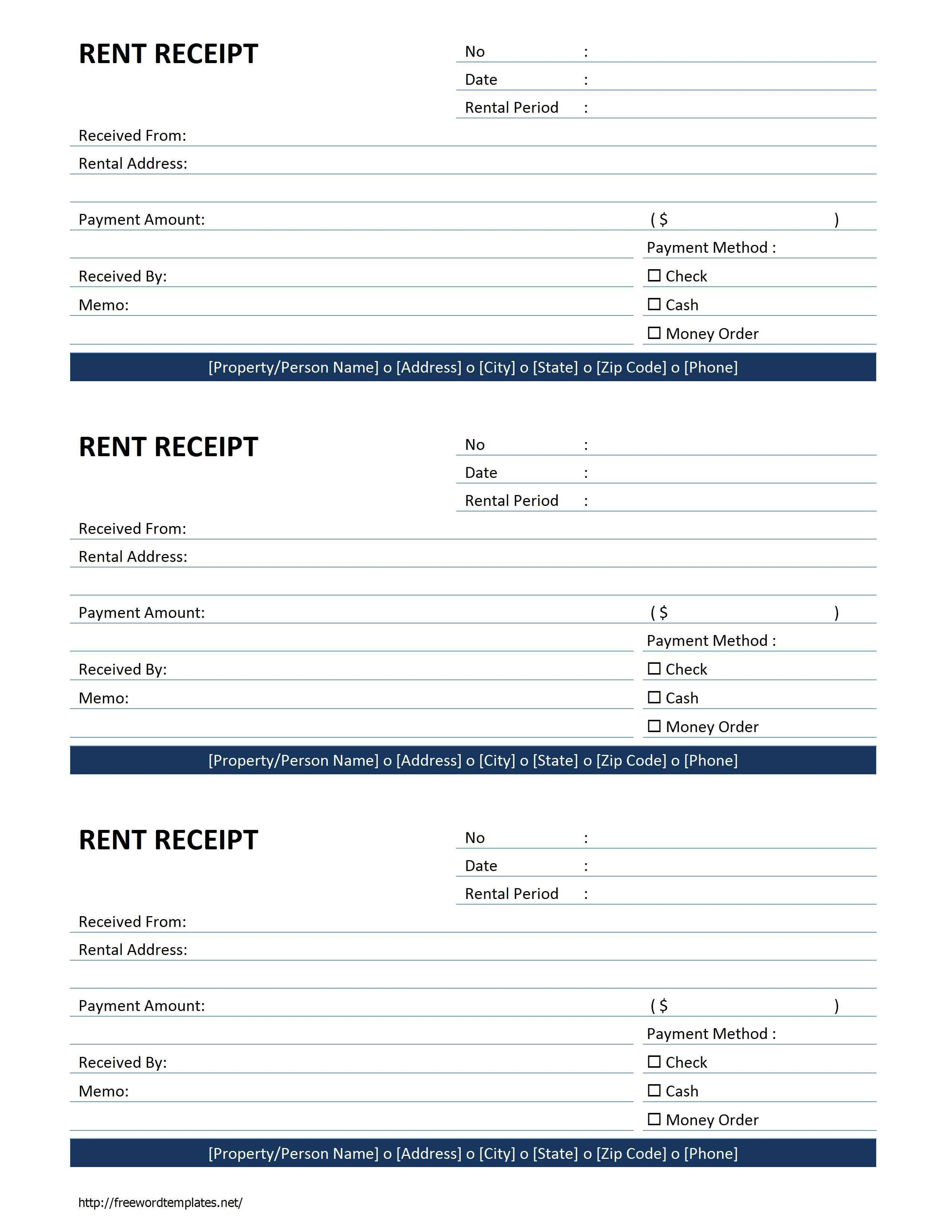 Rent Receipt Template  Free Microsoft Word Templates  Free Rent Regarding Invoice Template For Rent