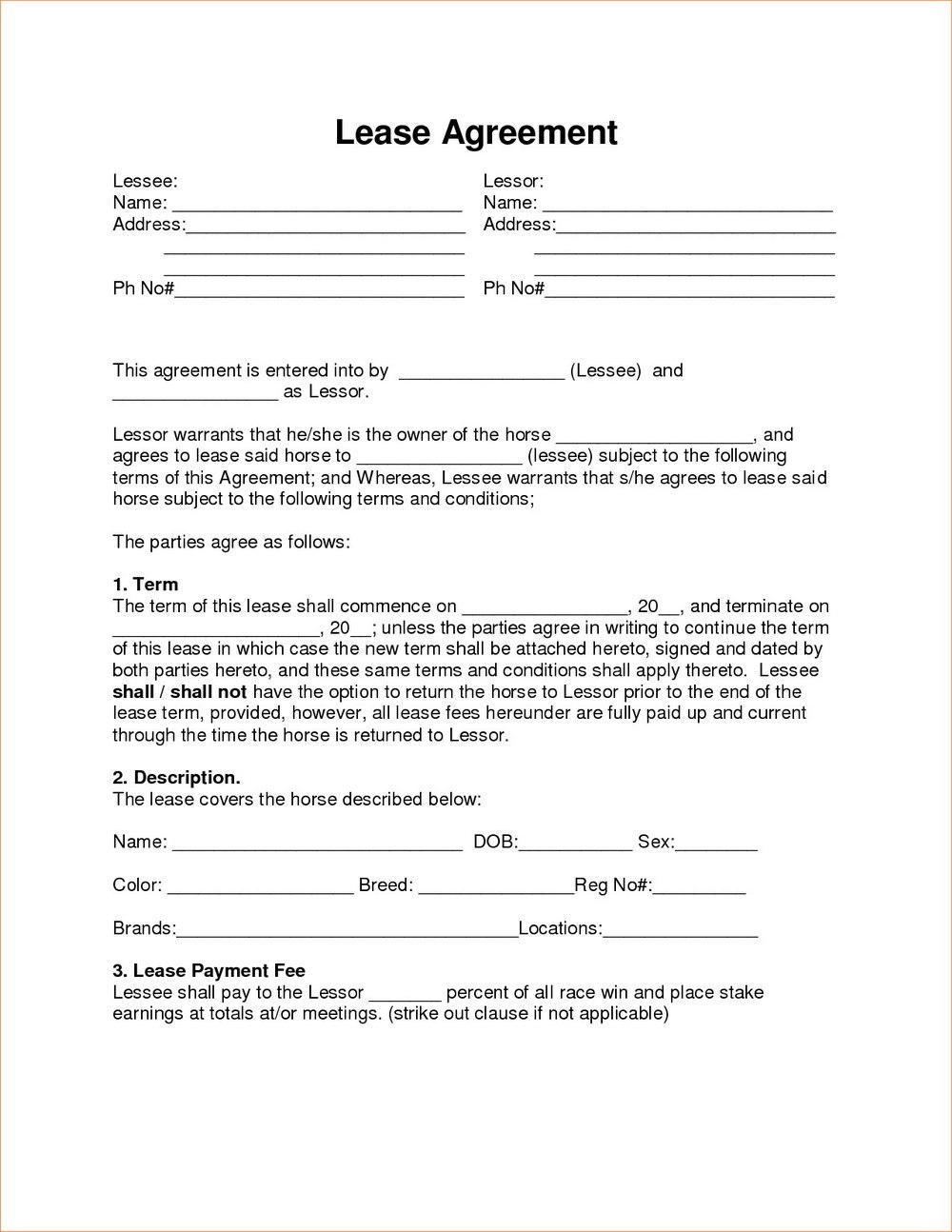 Rent To Own Agreement Template Alberta Best Ideas Contract Forms With Free Rent To Own Agreement Template