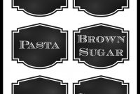 Reorganized Simplicity Free Printable Chalkboard Style Pantry intended for Pantry Labels Template