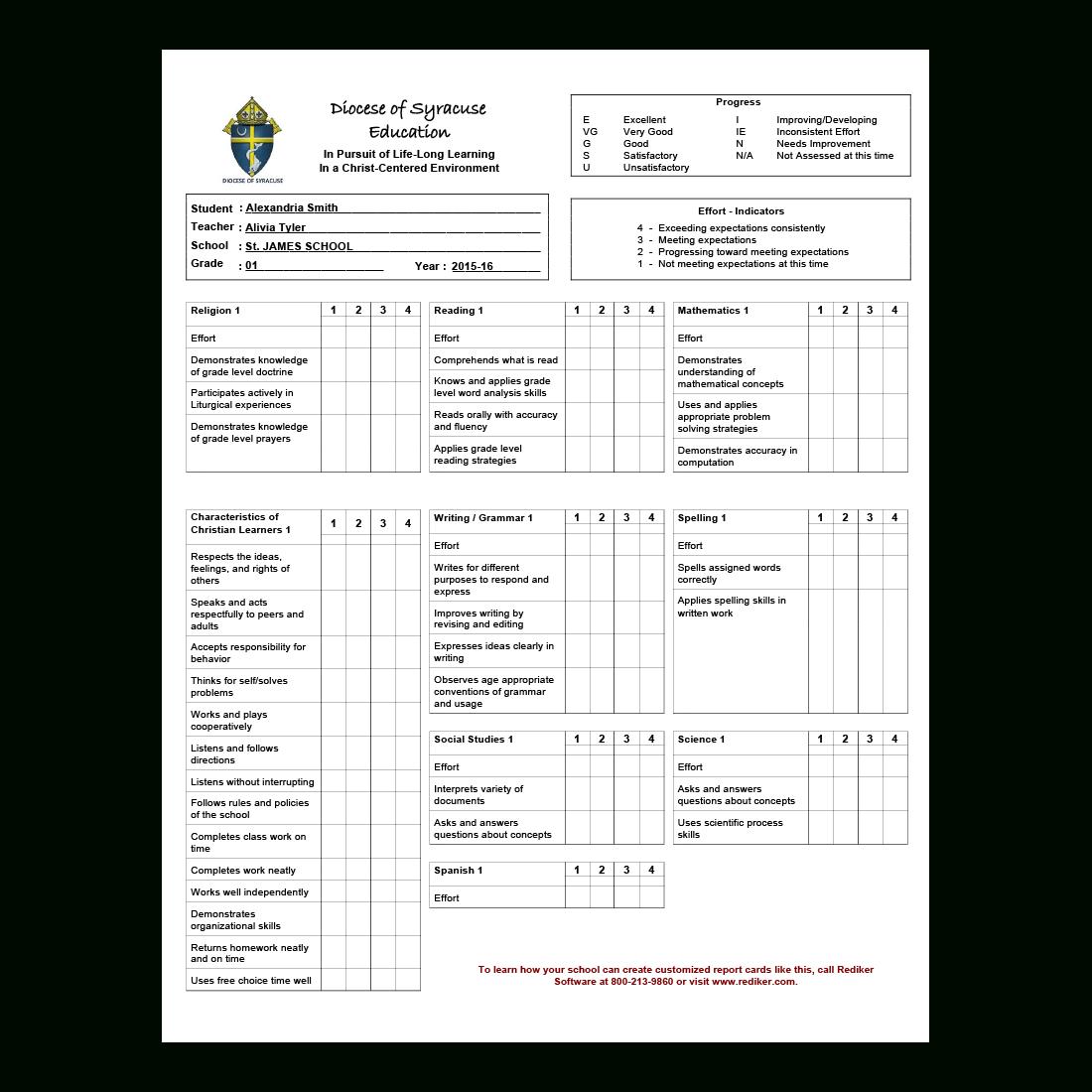 Report Card Software  Grade Management  Rediker Software Pertaining To Student Grade Report Template