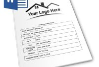 Report Form Pro  Ms Word Version  Home Inspection Report inside Home Inspection Report Template