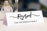 Reserved Sign Wedding Reserved Table Sign Reserved Signs  Etsy for Reserved Cards For Tables Templates