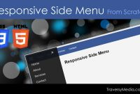 Responsive Html  Css Side Menu From Scratch  Youtube for Css Vertical Menu Templates Free Download