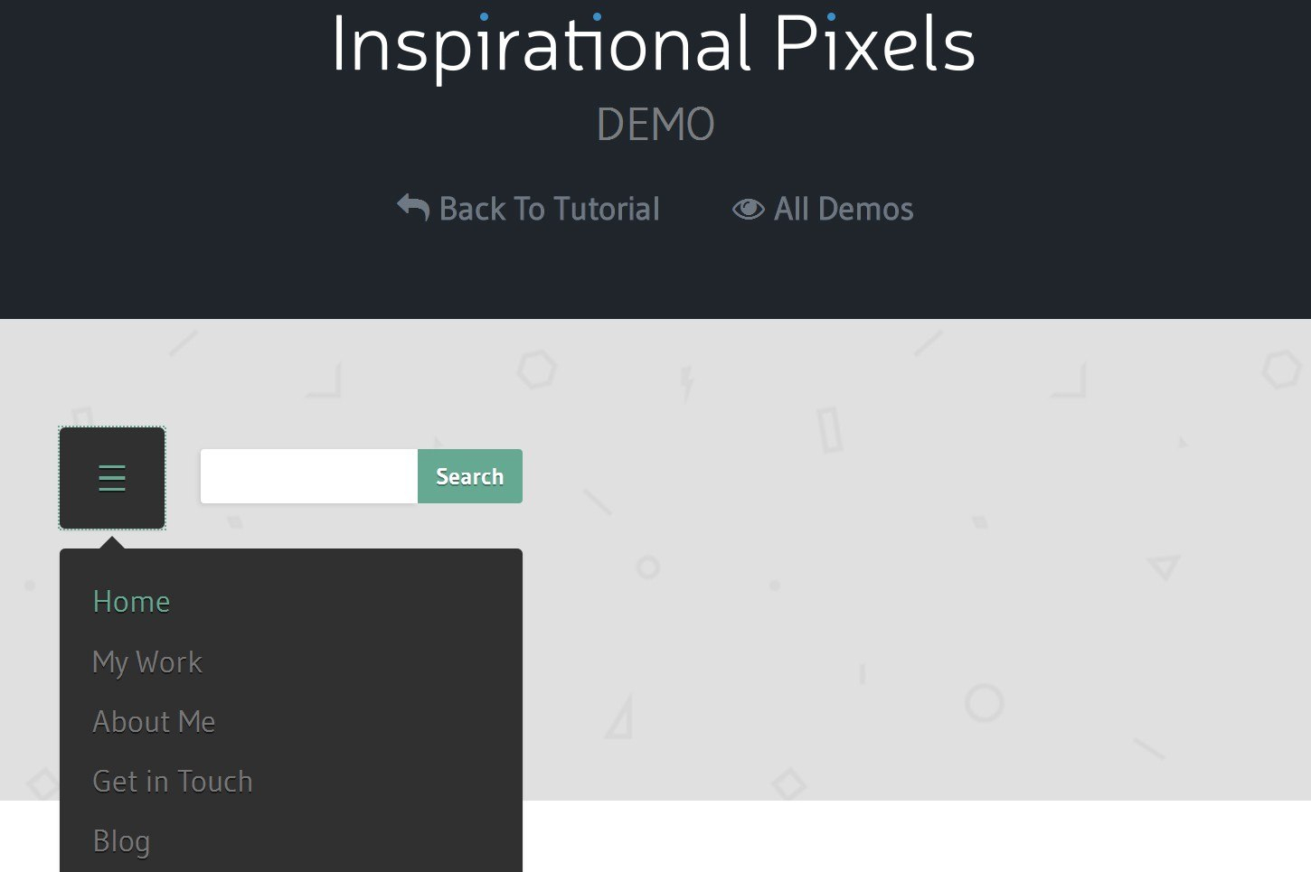 Responsive Navigation Solutions Examples  Codes Throughout Html Header Menu Templates