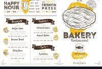 Restaurant Cafe Bakery Menu Template Royalty Free Vector throughout Free Bakery Menu Templates Download