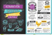 Restaurant Cafe Menu Template Design Stock Vector  Illustration with regard to Menu Board Design Templates Free