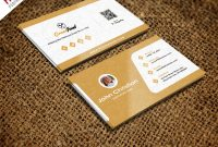 Restaurant Chef Business Card Template Free Psd  Psdfreebies pertaining to Name Card Photoshop Template