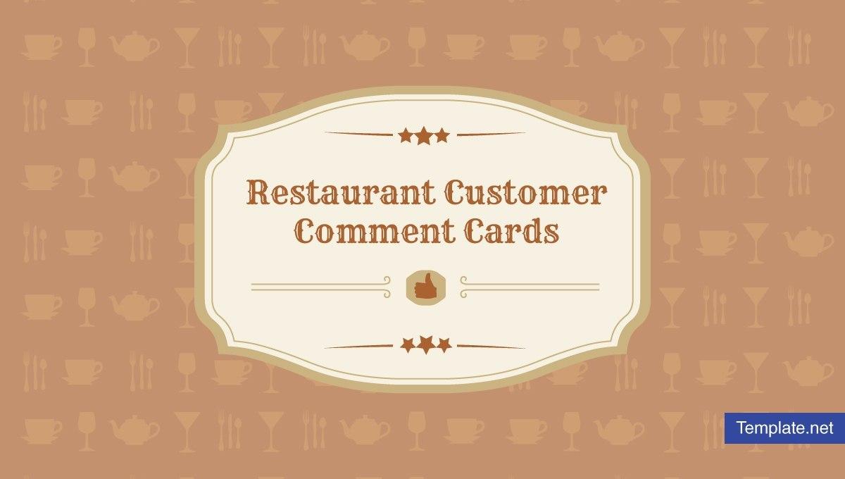 Restaurant Customer Comment Card Templates  Designs  Psd Ai For Restaurant Comment Card Template