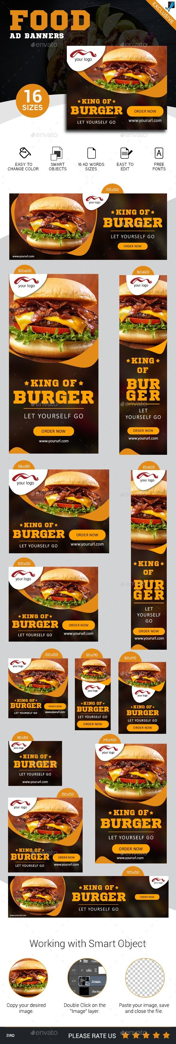 Restaurant  Fast Food Banners  Banners  Ads Web Elements  Web Regarding Food Banner Template