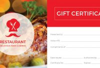 Restaurant Gift Certificate Template Vintage Certificates intended for Restaurant Gift Certificate Template