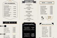Restaurant Menu Design Stock Photos Images  Pictures – regarding Menu Board Design Templates Free