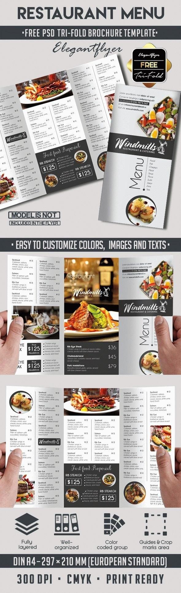 Restaurant Menu Free Template  Takeaway Menu  Menu Design Menu Within Takeaway Menu Template Free