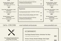 Restaurant Menu Template Word  Simple Template Design throughout Free Cafe Menu Templates For Word
