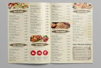 Restaurant Menu Templates With Creative Designs with Takeaway Menu Template Free