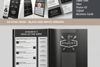 Restaurantmenüvorlagen Mit Kreativen Designs regarding Menu Template Indesign Free