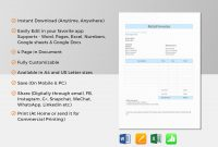 Retail Invoice Template In Word Excel Apple Pages Numbers within Invoice Template For Pages