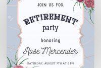Retirement Party Invitation Design Template With Rose Gold with Retirement Card Template