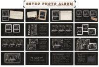 Retro Photo Album Ppt Templateblixa  Studios On Creative Market within Powerpoint Photo Album Template