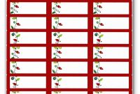 Return Address Labels Template Per T New Free Christmas Label Ss Regarding Return Address Labels Template 30 Per Sheet