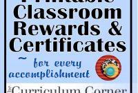 Rewards  Certificates  Wwwthecurriculumcorner  Classroom throughout Classroom Certificates Templates