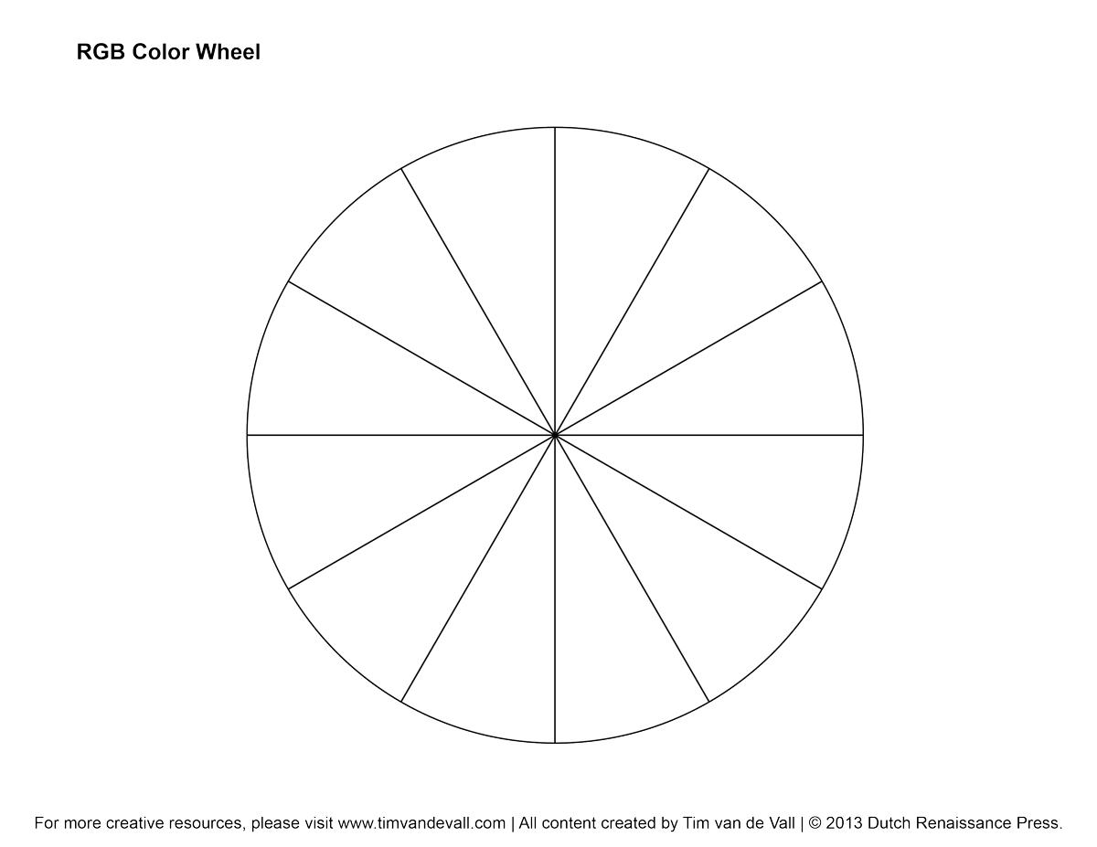 Rgb Color Wheel Hex Values  Printable Blank Color Wheel Templates In Blank Color Wheel Template