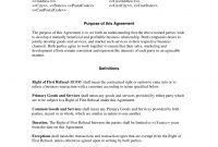 Right Of First Refusal With Nondisclosure Agreement  General pertaining to Sale Of Business Contract Template Free