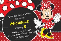 Rocking Minnie Mouse Birthday Invitation Card Design Template In Psd inside Minnie Mouse Card Templates