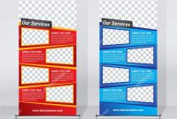 Roll Banner Design Template Abstract Background Pull Design Modern with Retractable Banner Design Templates
