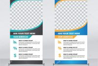 Roll Banner Design Template Vertical Abstract Background Pull Design pertaining to Retractable Banner Design Templates