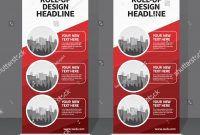 Roll Banner Design Template Vertical Abstract Stock Vector Royalty throughout Retractable Banner Design Templates