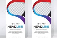 Roll Up Banner Design Template Abstract Background Pull Up in Pop Up Banner Design Template
