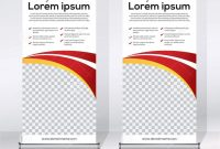 Roll Up Banner Design Template Vertical Abstract Background Pull inside Retractable Banner Design Templates