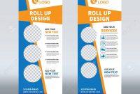 Roll Up Banner Design Template Vertical Abstract Background with Pop Up Banner Design Template