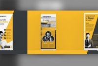 Roll Up Banner Designs For Your Advertising Needs  Psd Ai intended for Retractable Banner Design Templates