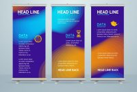 Roll Up Banner Stand Design Template Royalty Free Vector with Banner Stand Design Templates