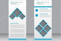 Roll Up Banner Stand Template Abstract Background For Design within Banner Stand Design Templates